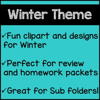 winter math worksheets 4th grade by teaching buddy loves. Black Bedroom Furniture Sets. Home Design Ideas