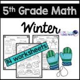 Winter Math Worksheets 5th Grade
