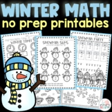 Winter Math Worksheets & Activities 1st and 2nd Grade