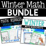 Winter Math Worksheets BUNDLE
