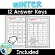 Winter Math Worksheets - Differentiated and Editable