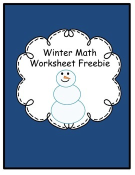 Winter Math Worksheets Freebie