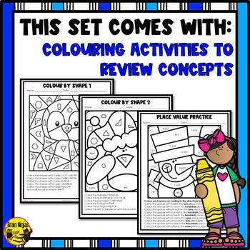 winter math worksheets grade 3 by brain ninjas tpt