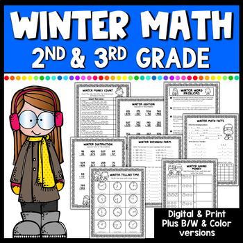 Winter Math Worksheets- Grades 2-3