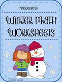 Winter Math Worksheets- Kindergarten