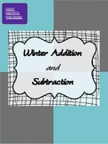 Winter Math Worksheets - Single Digit Addition and Subtrac
