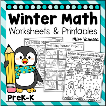 Winter Math Worksheets and Printables