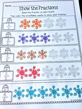 First Grade Math Worksheets and Literacy Worksheets - Winter Packet