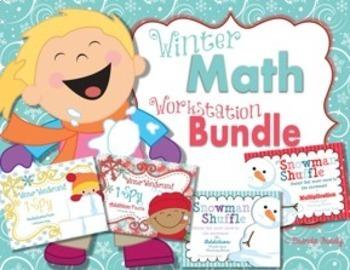 Winter Math Workstation BUNDLE ~ Math Fact Fluency ~