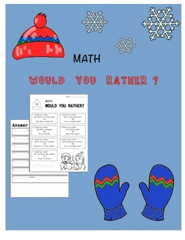 "Winter Math ""Would You Rather"" Algebraic Expressions"