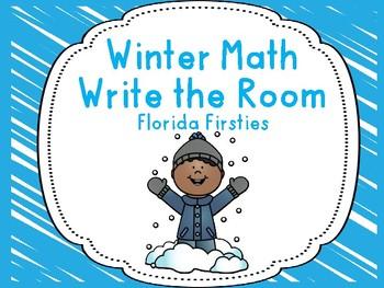 Winter Math Write the room