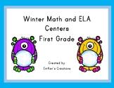 Winter Math and ELA Centers - First Grade