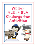 Winter Math and ELA/Literacy Kindergarten Activities