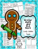 Winter Math and ELA Worksheets K-1st
