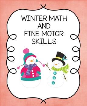 Winter Math and Fine Motor Skills