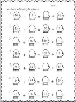 Winter Math and Language Arts