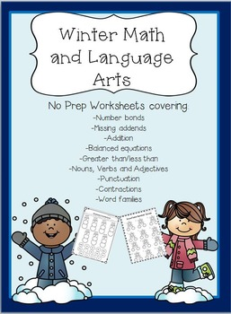 Winter Math and Language Arts