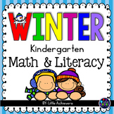 January Activities for Kindergarten Math and Literacy Worksheets