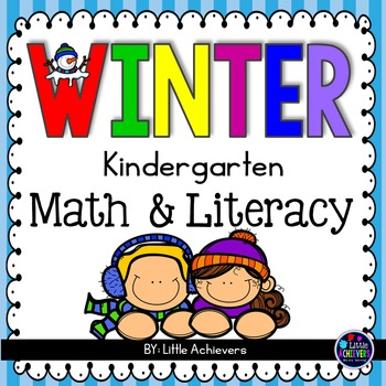 Winter Worksheets Math and Literacy Packet