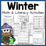 Winter Activities Bundle - Math and Literacy - No Prep - J
