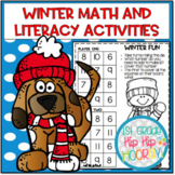 Winter Math and Literacy Activities...Print and Go!
