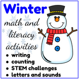 Winter Activities, Math and Literacy Centers, Morning Work