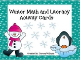 Winter Math and Literacy Activity Cards