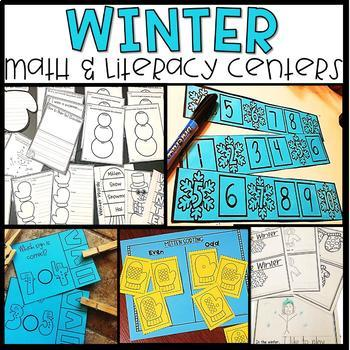Winter Math and Literacy Centers- Complete Bundle