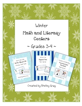 Winter Math and Literacy Centers {Grades 3-4}