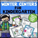 Kindergarten Math Centers Literacy Centers for Winter with BOOM CARDS