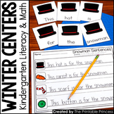 Kindergarten Winter Centers for Math and Literacy Activities