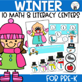 Winter Math and Literacy Centers for Pre-Kindergarten