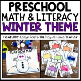 Winter Math and Literacy Centers for Toddlers and Preschool