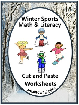 Winter Olympics Sports Cut and Paste Special Education Kindergarten Fine Motor