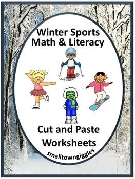 Winter Sports Activities Kindergarten Morning Work Cut and