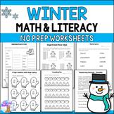 Winter Math & Literacy Activities