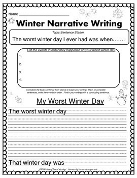 Winter Math and Literacy NO PREP Printables Sampler