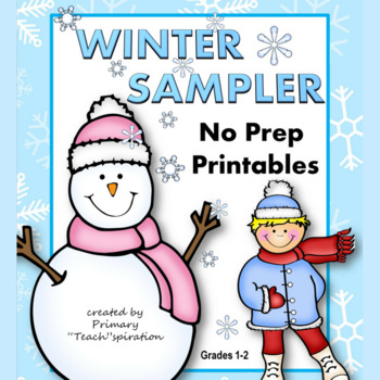 Winter Math and Literacy 1st & 2nd Grade Printables - Free Sampler