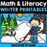 Winter Math and Literacy No-Prep {2nd Grade}