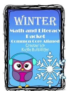 Winter Math and Literacy Pack NO PREP