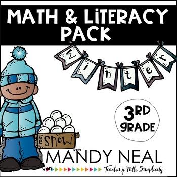 Winter Math and Literacy Pack (3rd Grade)