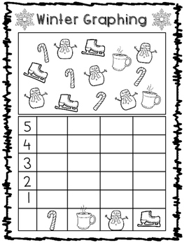 Winter Math and Literacy Pack 45 Pages - No Prep