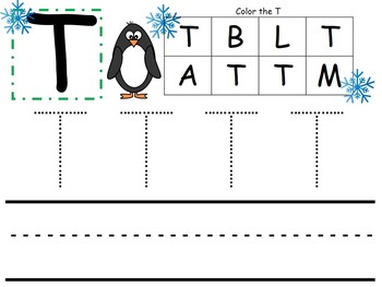 Winter Math and Literacy Pack for Preschoolers
