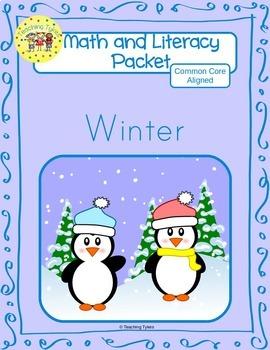 Winter Worksheets Emergent Reader Task Cards
