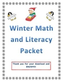 Winter Math and Literacy Packet