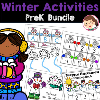 Winter Preschool Literacy and Maths Activities