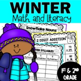 Winter Worksheets for 1st and 2nd Grade