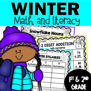 **Winter Worksheets for 1st and 2nd Grade