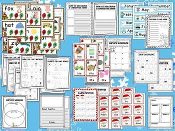 Winter Activities Math and Literacy Ultimate Bundle