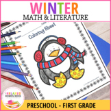 Winter Math and Literacy Worksheets - Kindergarten No Prep!